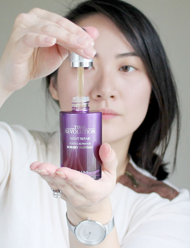Внешний вид Missha Time Revolution Night Repair Science Activator Borabit Ampoule